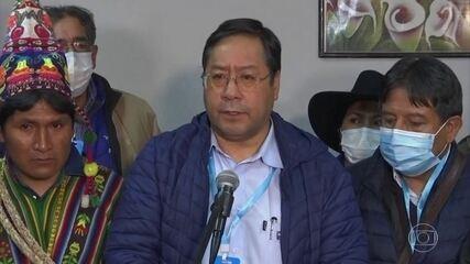 Pesquisas de boca de urna da eleilção presidencial na Bolívia indicam vitória de Luis Arce