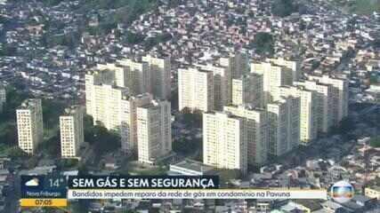 Bandidos impedem reparo da rede de gás em condomínio na Pavuna