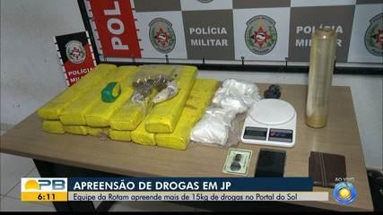 Rotam faz apreensão de mais de 15kg de drogas, em João Pessoa