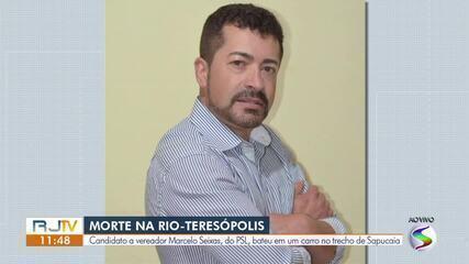 Candidato a vereador em Sapucaia morre em acidente de moto na Rio-Teresópolis