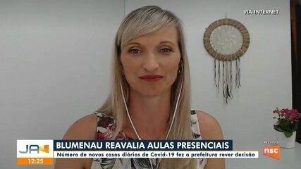 Blumenau reavalia retorno das aulas presenciais na rede municipal e não tem nova data