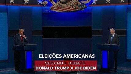 Veja os destaques do segundo debate entre Donald Trump e Joe Biden