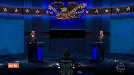 Donald Trump e Joe Biden fazem último debate antes da eleição
