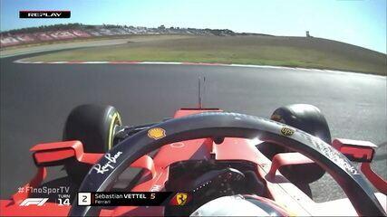 Vettel roda na pista em segundo treino do GP de Portugal