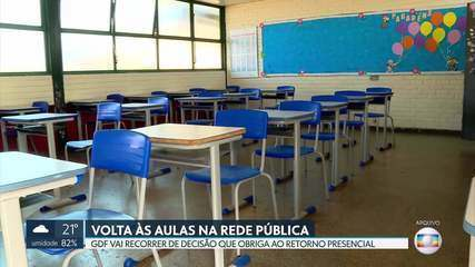 GDF vai recorrer de decisão da Justiça para retorno de alunos às escolas públicas