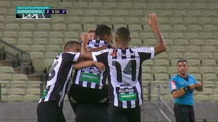Os gols de Ceará 2 x 1 Coritiba pela 18ª rodada do Campeonato Brasileiro