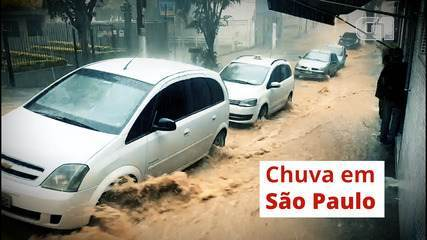 Chuva deixa SP em estado de atenção para alagamentos; algumas regiões tiveram granizo