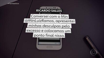 Após atacar colega Luiz Eduardo Ramos, Salles admite 'excesso' e pede desculpas