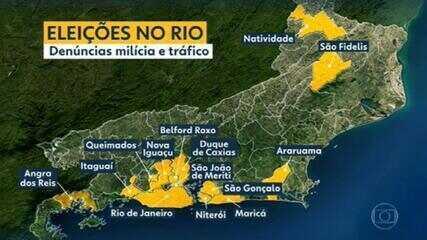 Relatório mostra interferência da milícia e do tráfico nas eleições em 14 cidades do Rio