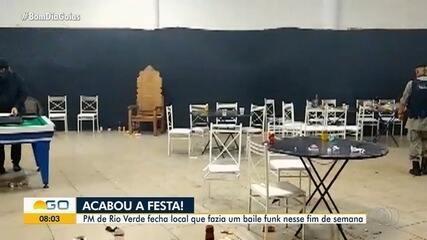 Polícia acaba com baile funk com aglomeração em Rio Verde