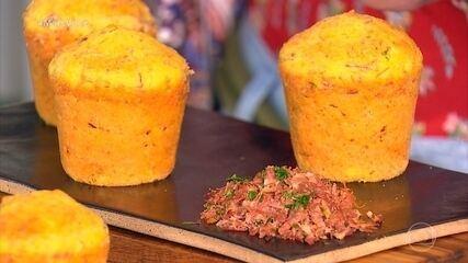 Petit Gâteau de Carne Seca e Requeijão