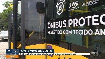 Ônibus da linha Ponte Viva terão tecnologia antiviral contra o coronavírus