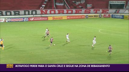 Santa Cruz marca de pênalti e vence o Botafogo-PB, no Arruda