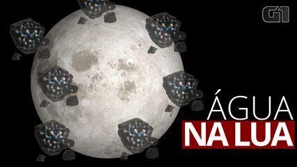 Cientistas descobrem água na superfície da lua