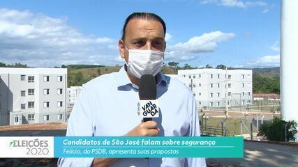 Candidato Felício (PSDB) fala sobre a segurança para cidade de São José