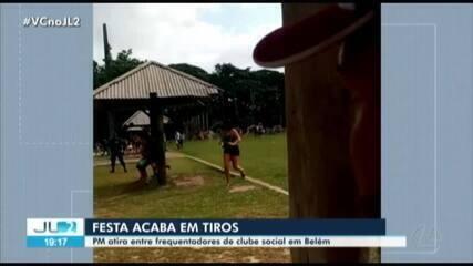 Festa em clube social de Belém termina em tiros