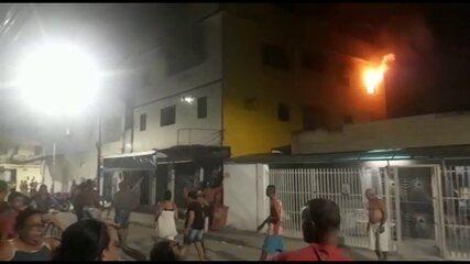 Incêndio atinge apartamento no bairro do Bongi, no Recife