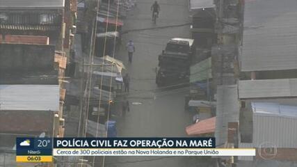 Operação policial busca quadrilha de assaltantes no Complexo da Maré