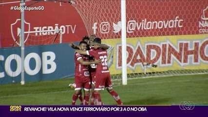 Vila Nova sobra em campo e vence o Ferroviário por 3 a 0