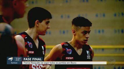 Franca jogará partidas da fase final do Paulista em Bauru