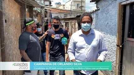 Orlando Silva visitou uma ocupação e encontrou com professores