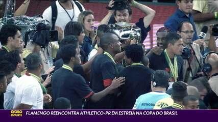 Flamengo reencontra Athletico-PR em estreia na Copa do Brasil