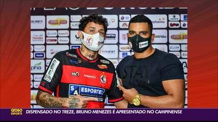 Bruno Menezes é apresentado no Campinense um dia após ser dispensado pelo Treze