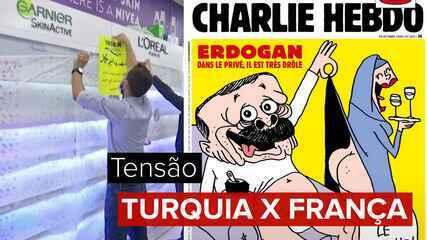 De boicote a produtos a caricatura de Erdogan: entenda a tensão entre França e Turquia