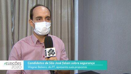 Candidato Wagner Balieiro (PT) fala sobre a segurança para cidade de São José