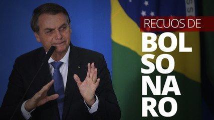 Recuos do presidente Jair Bolsonaro