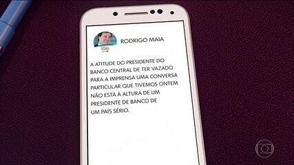 Maia acusa presidente do BC de vazar conversa entre os dois em rede social