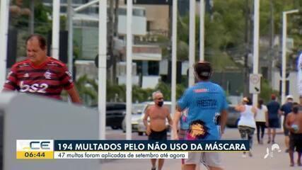 Quase 200 pessoas foram multadas por não uso de máscara no Ceará
