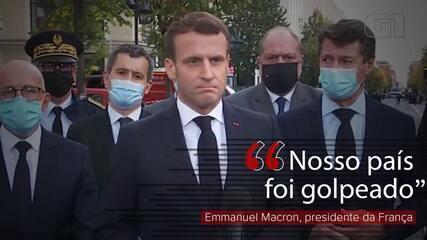 'Nosso país foi golpeado', diz Emmanuel Macron