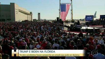 Eleições americanas: Trump e Biden fazem campanha na Florida