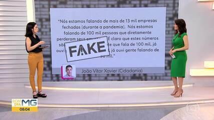 Veja se a declaração do candidato João Vítor Xavier é #Fato ou #Fake