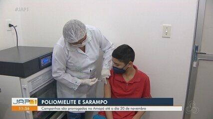 Campanhas contra poliomielite e sarampo são prorrogadas no Amapá até 20 de novembro