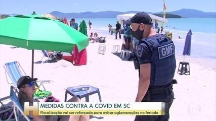 Santa Catarina vai reforçar a fiscalização para inibir as aglomerações durante o feriado