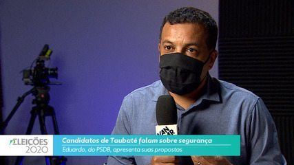 Candidato Eduardo (PSDB) fala sobre segurança