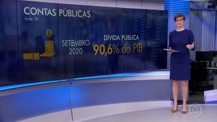 Dívida pública brasileira ultrapassou 90% do PIB em outubro