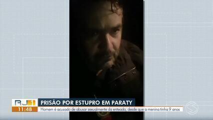 Polícia de Paraty prende homem procurado por estuprar enteada desde que ela tinha 9 anos