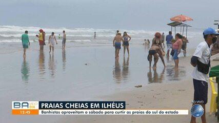 Praias de Salvador ficam vazias neste sábado movimento é intenso em Ilhéus e Morro de SP