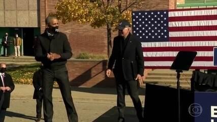 Candidatos a presidência dos EUA fazem campanha em estados decisivos
