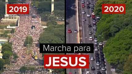 Carreata da Marcha para Jesus reúne milhares em SP e termina com show no formato drive-in