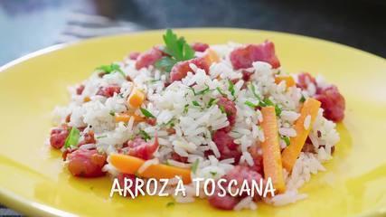 Receita Arroz à Toscana