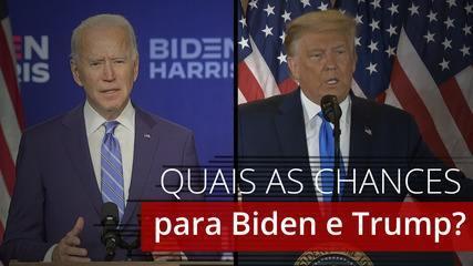 Eleição nos EUA: quais as chances de Biden e Trump vencerem