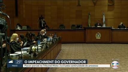 Tribunal Misto decide se processo de impeachment contra Witzel continua ou não