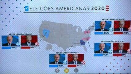 Eleição americana: contagem de votos ainda mostra indefinição em cinco estados