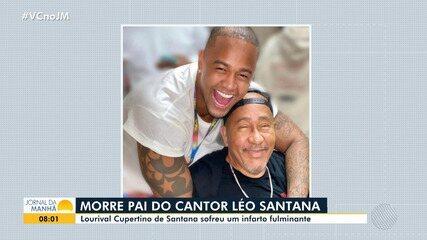 Pai do cantor baiano Léo Santana morre aos 68 anos, após sofrer infarto fulminante
