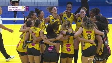 Melhores momentos: Praia Clube 3 x 1 Sesc-Flamengo pela Supercopa Feminina de Vôlei