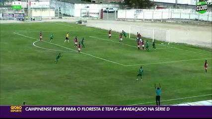 Floresta marca no último minuto e derrota o Campinense na Série D